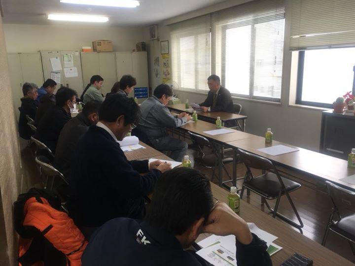 先週は毎月恒例のTSG安全衛生協力会でした。